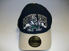 New Era 39 Thirty Notre Dame Navy Gold Medium Large Stretch Adjustable Cap