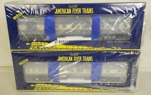 AMERICAN FLYER #6-48994 SET OF (2) BLUE COMET HEAVYWEIGHT PASSENGER CARS-MIB!