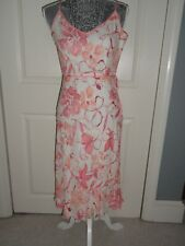NWT...ANN TAYLOR Petites 4P 100% SILK  Pink/Salmon Dress RV $169
