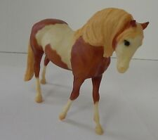 Breyer Molding Co American Paint Horse Pinto Silver Logo Statue Toy Chestnut Tan