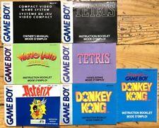 LOT 7 NOTICES GAMEBOY FR CONSOLE TETRIS WARIO LAND ASTÉRIX DONKEY KONG + SUPER
