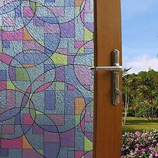 "17.7-78.7"" Decorative Static Window Films Clings Privacy Window Film Non Adhesif"