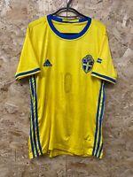 Mens Sweden Euro 2016 Football Shirt - #10 Zlatan Ibrahimovic - Size Medium