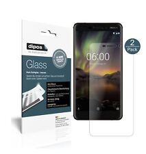 2x Nokia 6 (2018) Screen Protector matte Flexible Glass 9H dipos