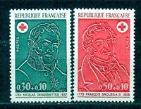 TIMBRES DE FRANCE ANNEE1972 CROIX ROUGE Y.V. N°1735 / 1736 NEUFS  SANS CHARNIERE