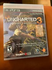 Uncharted 3: Drake's Deception (Sony PlayStation 3, 2011) BRAND NEW SEALED
