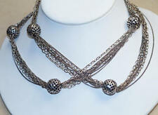 Amazing Heavy Artisan Tribal Bali 925 Solid Sterling Silver Chain Necklace