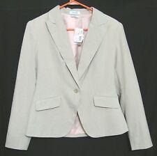 NWT SandStone Beige Blazer S Women $59.99 One Button Cream 4 6 Office Jacket