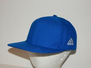 Adidas Flatbill Baseball Hat / Cap Adjustable Snapback Royal Blue