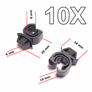 10X Engine Bonnet Support Rod Clips for Opel, Vauxhall, GM, Mitsubishi