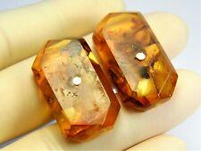 Vintage old Pressed Baltic Amber cufflinks 9.2 grams unique antique men's 3246