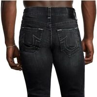 True Religion Men's Ricky Straight Fit Stretch Jeans in Black Star