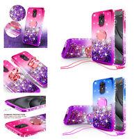 For REVVL Plus/Coolpad Revvl Plus Liquid Glitter Ring Shock Proof Case Cover