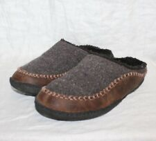 Sorel Slippers Brown With Leather Moc Toe Rubber Sole Men's Size 11 NM1801-206