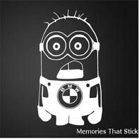 BMW MINION Funny Car Window Bumper JDM EURO Novelty Vinyl Decal Sticker