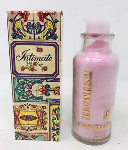 Vintage Revlon Intimate Creamy Milk Bath Powder 8 Oz Pink Original Box Glass