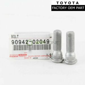 GENUINE TOYOTA TACOMA TUNDRA LEXUS WHEEL LUG STUD HUB SET OF 2 OEM 90942-02049