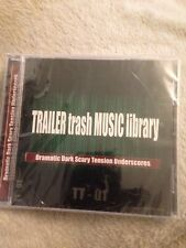 Trailer Trash Music library CD Dramatic Dark Scary Tension Underscores **