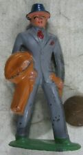 Vintage 1930's Cast Lead Barclay Business Man With Coat Train Layout #2