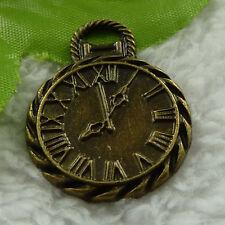 free ship 38 pcs bronze plated clock charms 34x26mm #3869