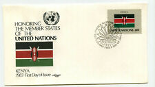 United Nations #406 Flag Series, Kenya, Artmaster, Fdc