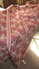 """Pair of Burgundy Floral Curtains-BNWOT, 100% Cotton, Width 66""""/Drop 56"""", Unlined"""