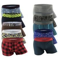 6 pairs Lot NEW Men's Assorted styles Boxers Briefs quality Size S,M,L,XL,2XL