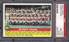 1956 Topps Baseball #213 Tigers Team Card  PSA - 8 (OC) NM - MT