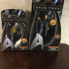 Lot 2 Star Trek Collection Playmates Caption Capt KIRK & SPOCK Action Figure toy