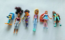 Lot of 6 Dolls: 2 Winx, 1 Barbie, 1 Polly Pocket, 1 Pirate and 1 Unknown