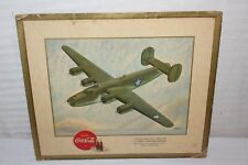 "Rare Vintage 1943 Coca Cola World War II U.S. Airplane Soda Pop 15"" Sign"