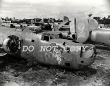 ANTIQUE REPRO 8X10 PHOTO  B-24 LIBERATOR BOMBER AIRPLANE BONE YARD POST WW11
