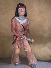 Vintage Native American Indian chalkware statue figurine 11� X 5�