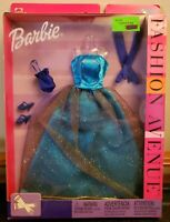 Barbie Fashion Avenue Doll Clothing 2002 Aqua Ball Gown Gloves Purse Shoes NEW