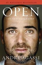 OPEN An Autobiography by Andre Agassi paperback book FREE SHIPPING tennis!