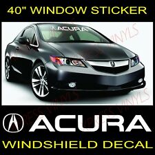 ACURA TLX MDX RXL RDX Windshield Vinyl Decal Sticker Custom Vehicle Window Logo