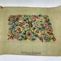 1938 Heirloom Needlework Guild Hiawatha Heirloom Cluny Bird Squirrel Needlepoint
