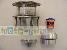 """6-6"""" Stove Flue liner Instalation Kit + All-in-one Cowl"""