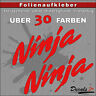 2er SET - NINJA Sponsoren-Folienaufkleber Auto/Motorrad - 30 Farben - 18cm