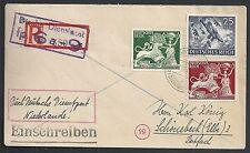 Reich covers 1944 R-cover Deutsche Dienstpost Niederlande Groningen-Schönebeck