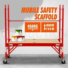 450KG Mobile Safety Scaffold Scaffolding Portable High Work Platform Ladder Tool