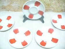 ILLY COLLECTION COFFEE 5 days of week saucer set lot GIFT Julian Schnabel CHUCK