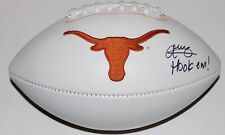 ANTHONY COOK signed (TEXAS LONGHORNS) Embroidered logo football W/COA C