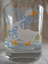 Farm Country Goose Double Old Fashioned (x2) Glass 8 oz Anchor Hocking Blue !