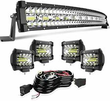 32inch Led Light Bar 3-Row Spot Flood Offroad Backup Driving Tractor Marine Sale(Fits: Ford)