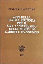 QUADERNI D'ANNUNZIANI XXXVIII-XXXIX - EMILIO MARIANO - 1969