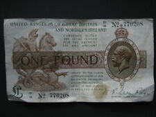 Fisher £1 Treasury note 1927 T35 T1/13 770208 square dot