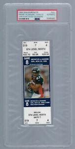 PSA - JOHN ELWAY 50,000 YARDS - 1998 NFL DENVER BRONCOS FULL FOOTBALL TICKET