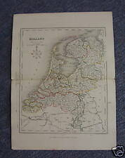 Map of HOLLAND circa 1860, Drawn & Engraved by J Archer with Handcolored Borders