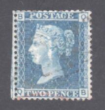 GR BRIT STAMP #21 — 2p VICTORIA -- BLUE -- 1857 -- USED